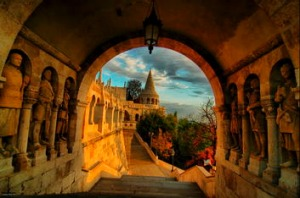 The ornate Fisherman's Bastion.