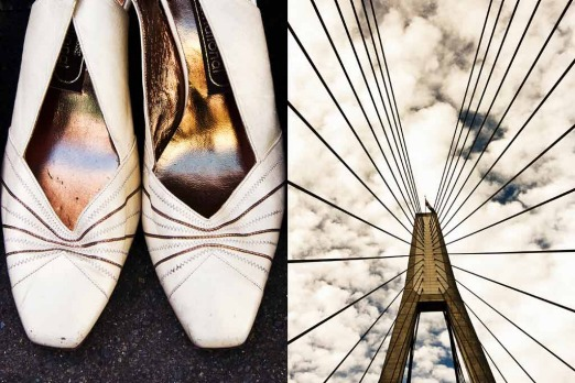"""I see a bridgein your shoes""... one of Louise Hawson's favourite diptychs, this one from her week in Glebe."