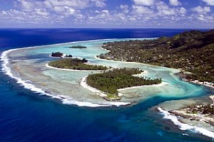 Matavera and Muri Lagoon on Raratonga, Cook Islands.