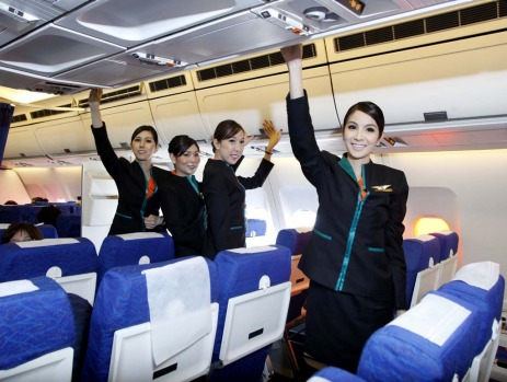 New Thai airline PC Air has taken off on its first proving flight from Bangkok to Surat Thani province after it recruited four transsexual flight attendants earlier this year.