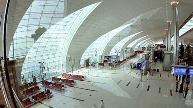 Not the place to practice for a shot at the Mile High Club ... Dubai Airport.