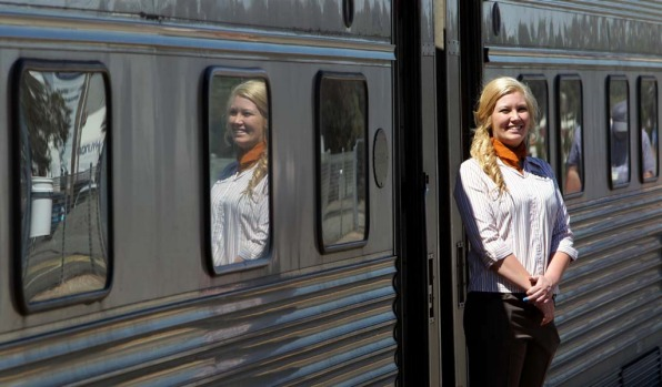 Staff on the Indian Pacific offer unobtrusive professionalism.