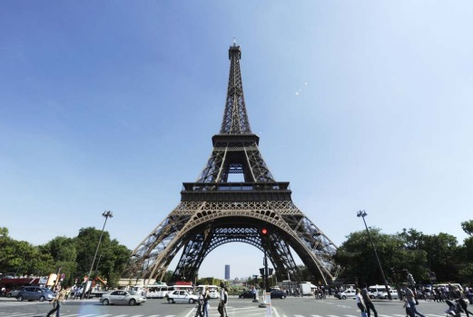EIFFEL TOWER, PARIS, FRANCE. Designed by Gustave Eiffel and built in 1889 for the Universal Exhibition and to celebrate ...