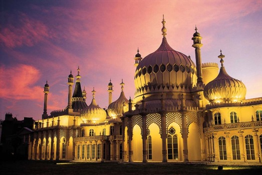 ROYAL PAVILION, BRIGHTON, ENGLAND. The exotic palace-cum-play-pad of Prince George, later Prince Regent then King George ...