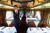 Fine dining in the desert ... the Indian Pacific's dining car.