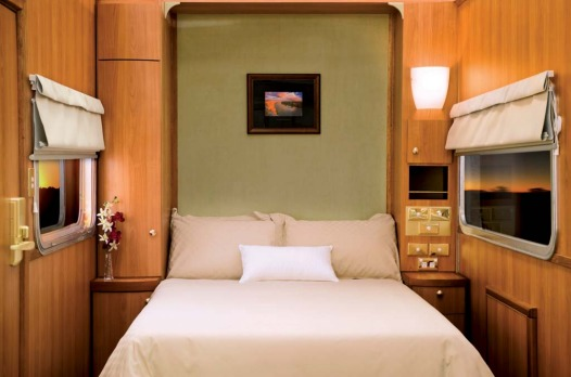 A platinum class cabin on board the Indian Pacific.