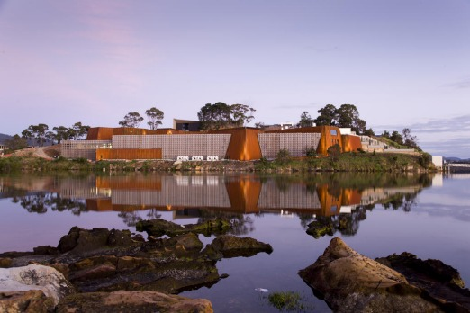 MONA is situated in a breathtaking spot on the banks of the Derwent River. Photo by Peter Mathew