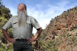 Parks Victoria Ranger in Charge Peter Box at Werribee Gorge , near Bacchus Marsh.