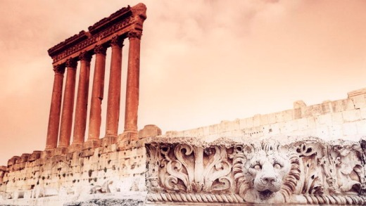 Jumble of history ... the Baalbek ruins.