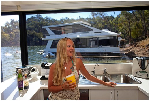 20 yr old Georgia Courtney on  houseBoat at Lake Eildon Victoria
