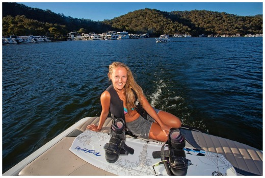 20 yr old Georgia Courtney at  Lake Eildon Victoria.
