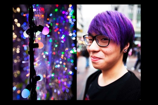 Tony does purple ... Sham Shui Po.