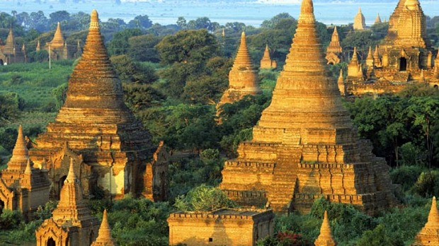 Burmese days ... some of the thousands of temples at Bagan.