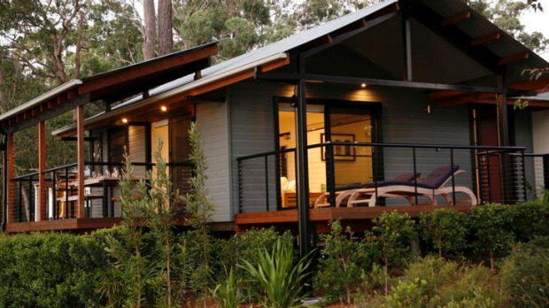 Peace and tranquillity ... Bluebell Retreat, designed by architect Gabriel Poole.