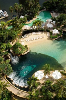 SWIM WITH TROPICAL FISH. Marriott Resort and Spa, Surfers Paradise. If you're a bit nervous about snorkeling in the open ...