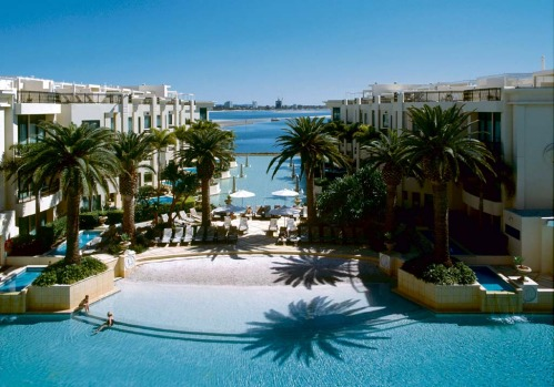 MOST SOPHISTICATED DIP: Palazzo Versace, Gold Coast.Paris Hilton bronzed herself on its sunbeds and Pamela Anderson in ...