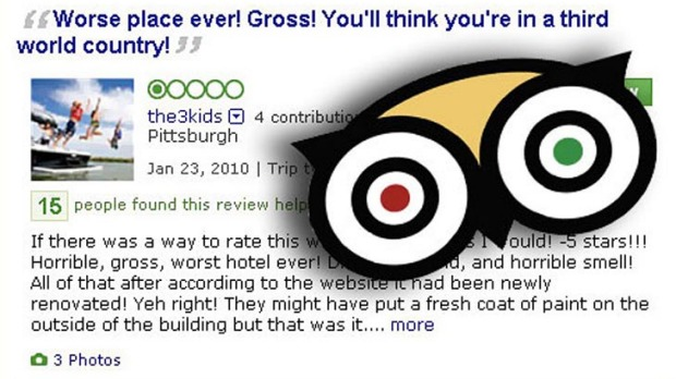 TripAdvisor has come under fire in recent times over fake reviews posted by users of its website.