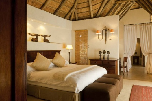 A bedroom at Dulini Lodge.