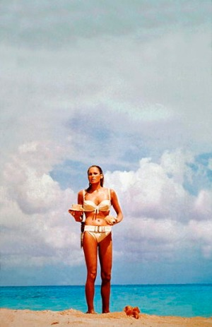 Breathtaking ... Ursula Andress emerges from Jamaican waters in <i>Dr No</i>.