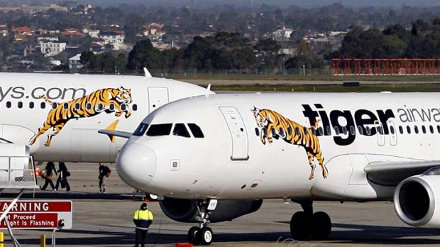 Three of Tiger's 10 A320 planes remain on the ground.