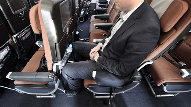 Ease the squeeze ... some airlines allows you to book an emergency exit row, for a fee.