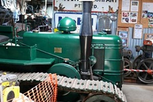 Road to recovery ... Alan Latimore's heritage machinery.