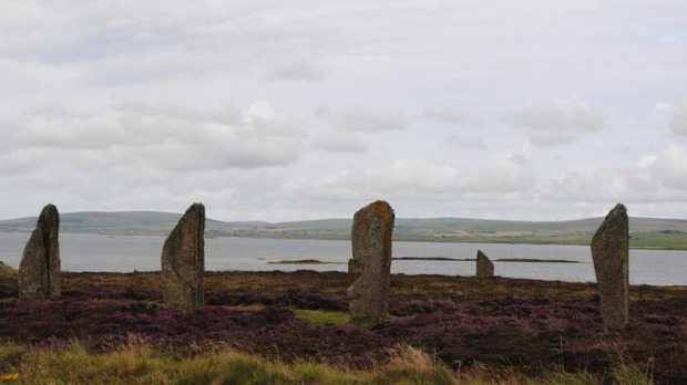 The Ring of Brodgar, a smaller but stunning version of Stonehenge.