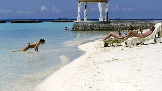 Tourism officially accounts for 30 per cent of the Maldives' $US2.1 billion economy, but SimMohamed Ibrahim, ...