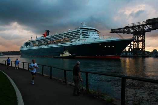 The Queen Mary 2 arrives in Sydney Harbour this morning.