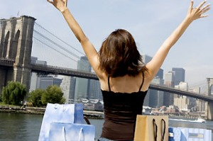 Shopping, Brooklyn Bridge, New York