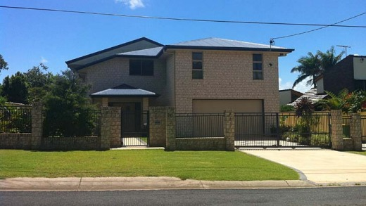 Director of Air Australia, Michael James, was not answering the door to his $1.25 million house in Brisbane's east this ...