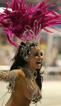 Carnival celebrations in Sao Paulo at the Sambadrome.