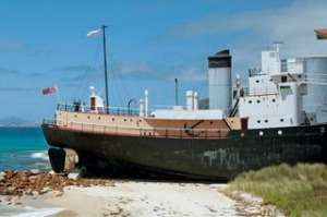 Cheynes IV old whaling ship, Albany, Western Australia. Phtoograph by Getty 