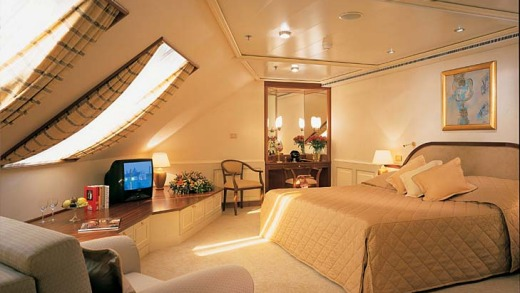 Once at sea the pair will stay in Silver Whisper's Royal Suite, which has two bedrooms, two marbled bathrooms, dining ...
