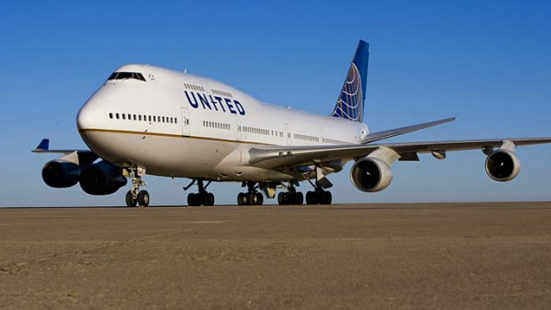 Jumbo hopes … United's 747s will eventually be replaced by the new Boeing 787 Dreamliner.