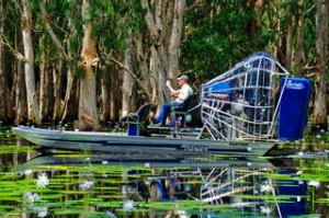 Airboating at Mary River Floodplains, Mary River, Northern Territory. Photograph by Tourism NT. SHD TRAVEL MARCH 4 ...