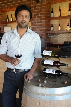 York Winery operations manager, Sachin Darade.
