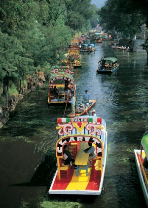Xochimilco, take a boat ride down the river.