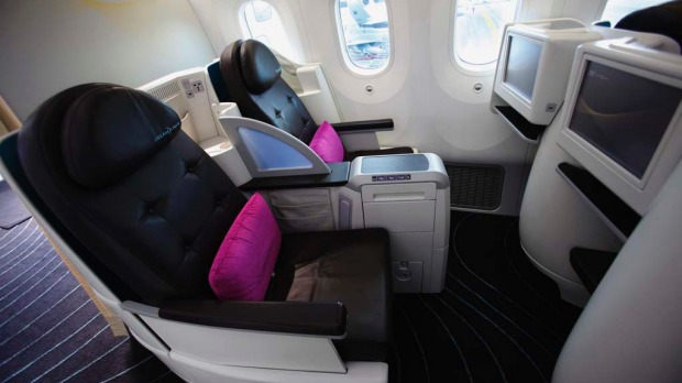 Business class seats on the Boeing 787 Dreamliner.