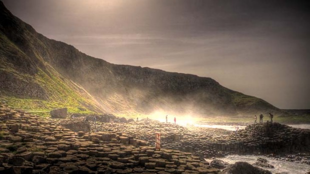 Ulster warriors ... the Giant's Causeway is the coast's main attraction.