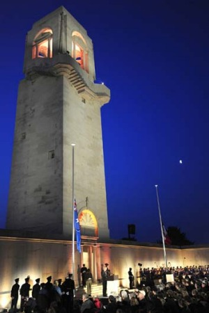 Lest we forget ... Anzac Day dawn service at Villers-Bretonneux.