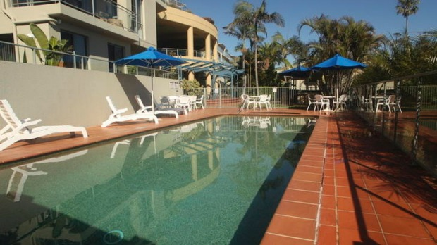 Doube dip ... Avoca Palms Resort is not short on swimming option.