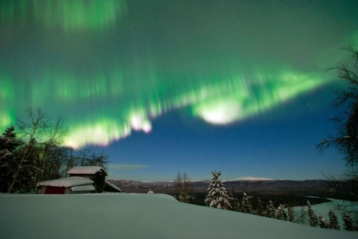 In this March 8, 2012 photo, the colourful Northern Lights are seen from Ruby, Alaska.