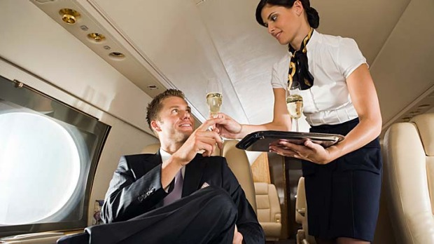 Eye contact ... one way to impress a flight attendant.