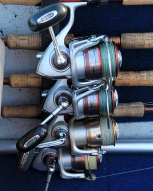 Reels ready for action.