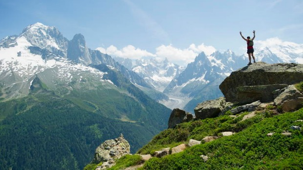 Rise and shine ... breathtaking views on the Tour du Mont Blanc.