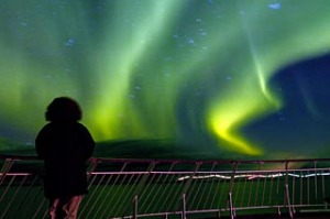 Glowing report ... the aurora borealis seen from a cruise ship.