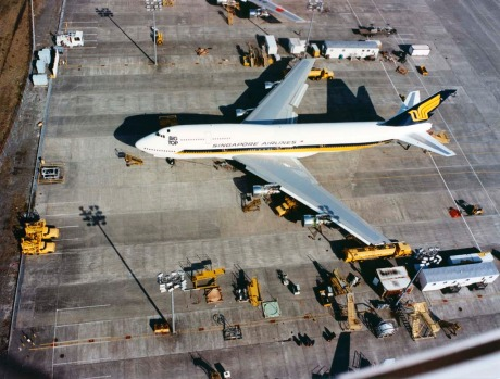 Singapore Airlines' first jumbo jet was a 747-300 'Big Top'.