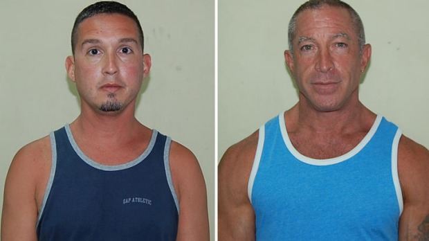 John Hart, 41, Dennis Jay Mayer, 43, both of Palm Springs, California, pleaded guilty to indecent exposure in Dominica ...