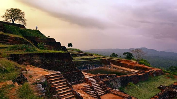 Ancient civilisation ... the palace on the peak, Sigiriya, Sri Lanka.